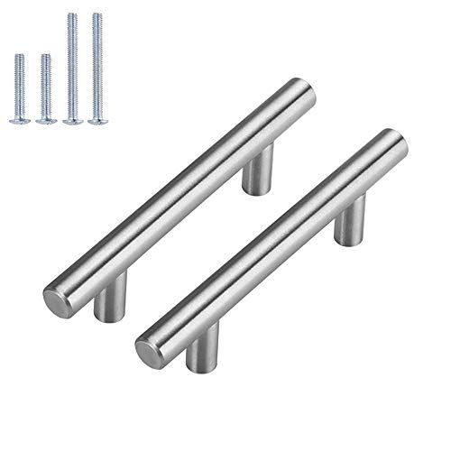 homdiy | 25 Pack 3in Hole Centers | Cabinet Handles Nickel Drawer Pulls Stainless Steel, Bar Handle Pull with Brushed Nickel Finish | Kitchen Cabinet Hardware/ Dresser Drawers 201SN
