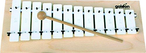 11040 12 platos de sonido metalófono Goldon - blanco