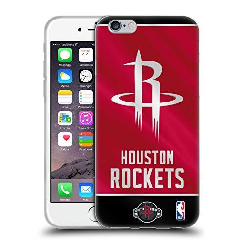 Head Case Designs Offizielle NBA Banner 2019/20 Houston Rockets Soft Gel Huelle kompatibel mit iPhone 6 / iPhone 6s