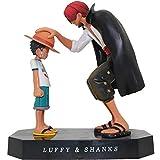 Figura di Anime 15 Cm Anime One Piece Four Emperors Shanks Cappello di Paglia Rufy Action PVC Figure Going Merry Doll Modello da Collezione Toy Figurine