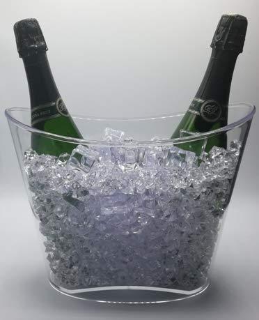 Secchiello per ghiaccio Fresh, 1 o 2 bottiglie o bottiglia magnum, trasparente (altezza 22 cm x lunghezza 30 cm x larghezza 18,5 cm)