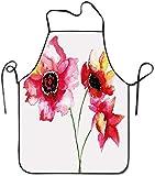 Cintura Flores de Lirio Borrosa Brumoso Acuarela Naturaleza Esencia Belleza Floraciones Delantal de Imagen Unisex Delantal de Cocina para cocinar Hornear Jardinería Limpieza