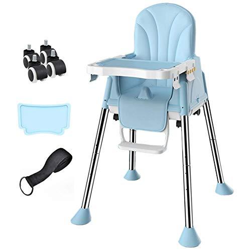 CCLLA Klappbarer Babyhochstuhl mit Tray Safety Booster Feeding Verstellbarer Sitz (Farbe: Blau)