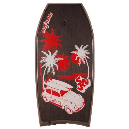 'Surf' N 'Sun Bodyboard Beetle 41, 104x 49x 6cm, 20644, Schwarz D11, 104x49x6 cm