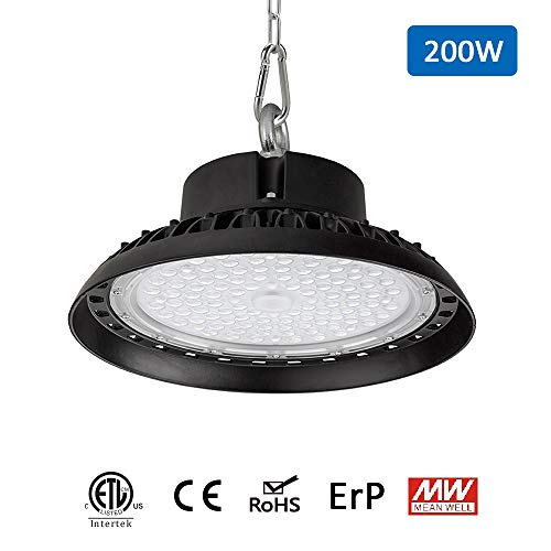 200W 5000K UFO LED High Bay Light for $52.39 (47% Off)