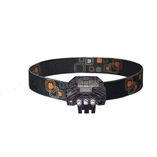 Ocamo Led-hoofdlamp, vissen, nachtlampje, 3 LED oplaadbare koplamp, hoed, clip, inductie, koplamp, wandelen, vissen, lamp