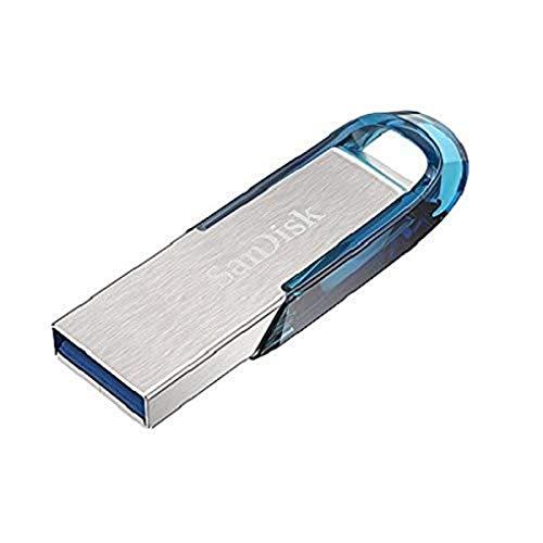 Sandisk Ultra Flair 64 GB, Chiavetta USB 3.0, Velocità di Lettura fino a 150 MB/s, Blu