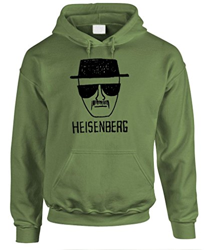 The Goozler Heisenberg - Bad Walter White Meth Pullover Hoodie, S, Army