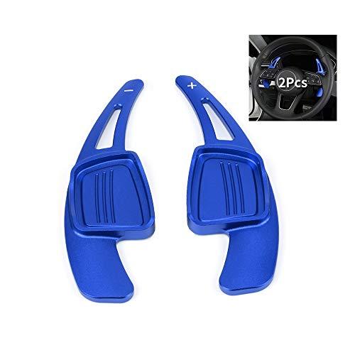 HIBEYO Extensiones de palanca de cambios DSG, 2 unidades, para volante de Audi A1 A3 A4L A5 A6L A7 A8 S4 S5 Q2 Q5L Q7 TT TTS, juego de extensiones deportivas, palanca de cambios, color azul