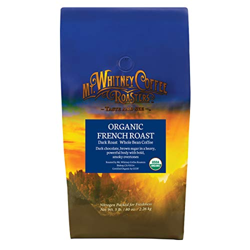 Mt. Whitney Organic French Roast, Dark Roast Coffee (Whole Bean, 5 Lb)