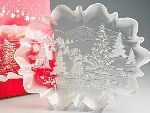 Walther Glas 1205024 - Piatto da Portata Sogno di Natale, in Vetro Satinato, 440 mm