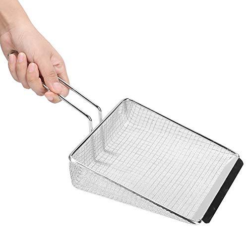 Cuchara de Filtro de Cocina Robusta y Resistente al Calor, Cuchara de Filtro, portátil para Parrilla de Cocina Tienda de Pollo Frito para en casa(Secret Net)