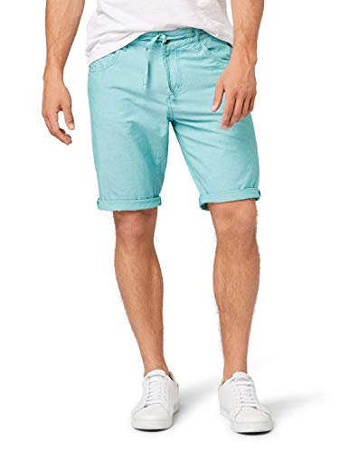 TOM TAILOR Herren Shorts, Grün (Porcelain Green Yd C 17921), 34