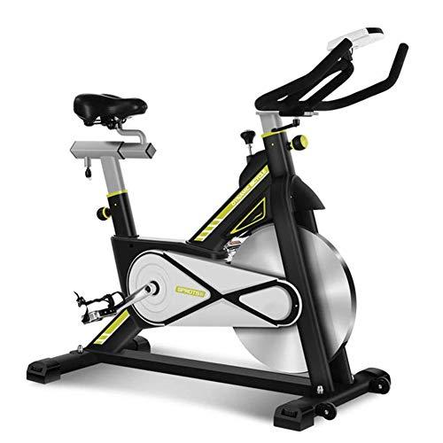 Cyclette Spinning,Elettromagnetico Bicicletta Spinning Bike Home Regolazione Continua della Resistenza,Cyclette da Allenamento Manubrio e Sedile a Resistenza Regolabile Sicuro Stabile Confortevole
