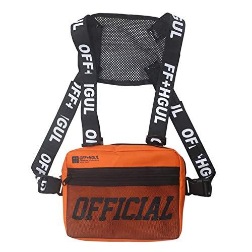 EFINNY Männer Frauen Chest Rig Bag Hip-Hop Style Pack Funktionelle Brusttasche Cross Shoulder Bag Einstellbare Taktische Weste Streetwear Taschen Hüfttasche