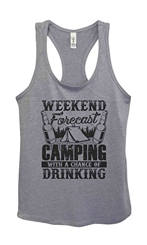 Little Royaltee Shirts Funny Family Outdoors Tanks Weekend Forecast Camping and Drinking Shirts Small, Grey