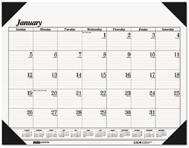 House of DooPeu 0124 Workstation-Taille One-Couleur Monthly Desk Pad Calendar, 18-1 2 x 13, 2015 by House of DooPeu
