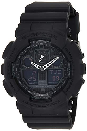 Casio G-SHOCK Orologio 20 BAR, Nero, Analogico - Digitale, Uomo, GA-100-1A1ER