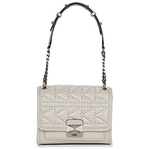 Karl Lagerfeld K/KUILTED Studs SMALL Handbag Handtaschen Damen Grau - Einheitsgrösse - Umhängetaschen