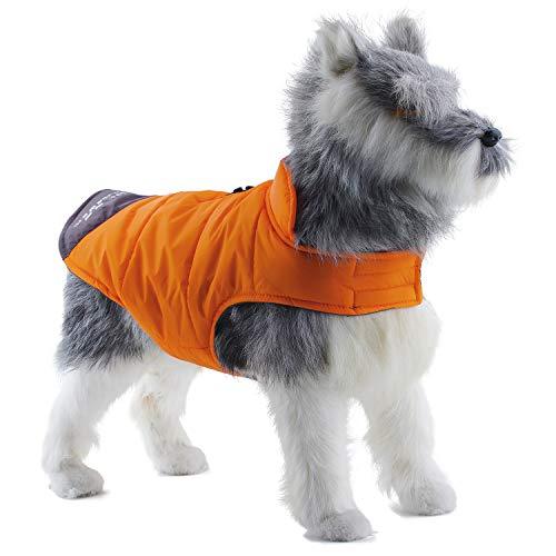 ThinkPet Dog Hunde Jacke Warm wasserdicht Canine Coat Kältebeständige Winter Abenteuerausrüstung mit reflektierenden Streifen, EINWEG Verpackung