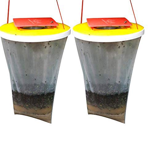 JIAMEI Fly Trap Bags,Fly Trap Outdoor Disposable,Fly Catcher,Top Red Fly...