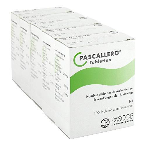 Pascoe® Pascallerg: bei Heuschnupfen - bei allergisch bedingtem Juckreiz in Nase & Augen - unterstützt bei allergischem Fließschnupfen - mit Wildem Jasmin - glutenfrei - ab 1 Jahr - 5x 100 Tabletten
