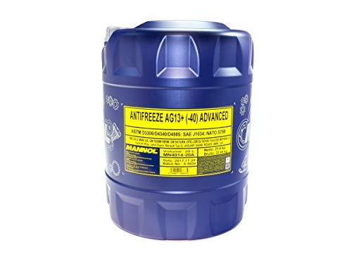 MANNOL Antifreeze AG13+ -40 Advanced Kühlerfrostschutz Kühlmittel MN4014-20