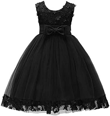 Weileenice Halloween 1 14 Years Big Little Girl Flower Lace A line Party Dresses Christmas Girls product image