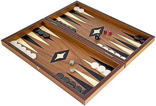 Kompakt Nussbaum und Ahorn Backgammon Set