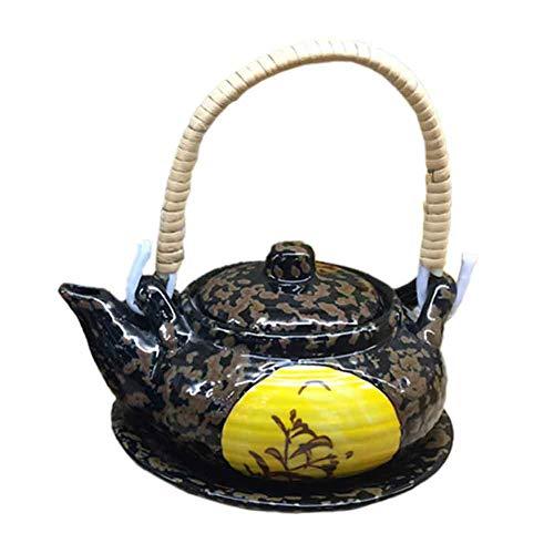 BLANCHO BEDDING Exquisito Destacado Multiusos Estilo Japonés Porcelana Tetera Sopa Olla 5#