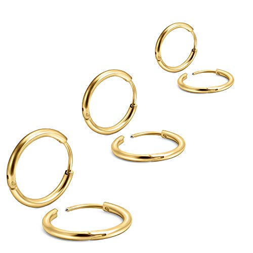 aretes de oro hombre fabricante EACHLP