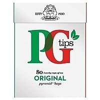 Pgのヒントは、1パックティーバッグ80をピラミッド - PG tips Pyramid Teabags 80 per pack [並行輸入品]