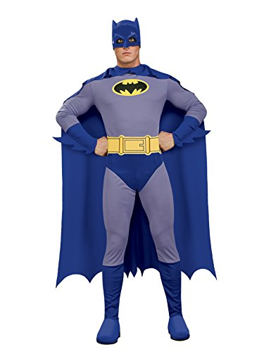 Rubie's Men's Batman The Brave and The Bold Adult Batman Costume, Blue/Grey, Large