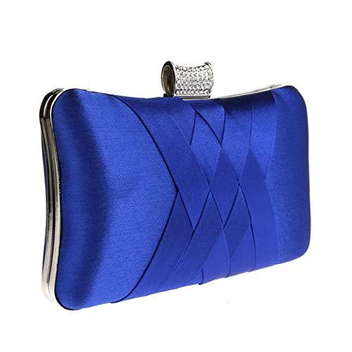 ShowYeu Damen Clutch Tasche Abendtasche Brauttasche Hochzeit Clutch Bag Elegante Handtasche RoyalBlau
