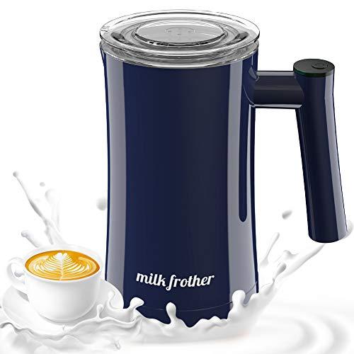Milchaufschäumer, Elektrischer Milchaufschäumer, Antihaft-Keramikdampfer mit kalter und heißer Funktion, Schaumbildner, Automatische Aufhören für Milch, Kaffee, Cappuccino, Macchiato, Heiße Pralinen