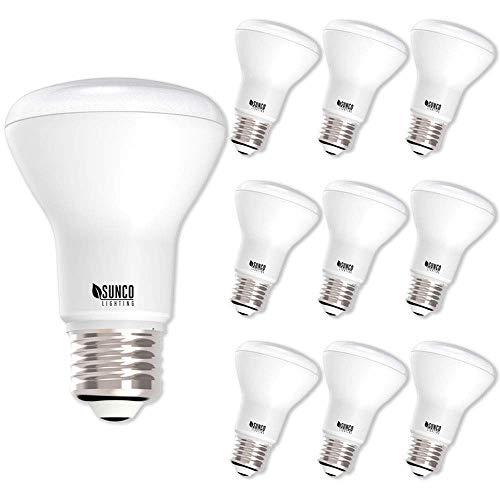 Sunco Lighting 10 Pack BR20 LED Bulb, 7W=50W, Dimmable, 4000K Cool White, E26 Base, Flood Light for Home or Office Space - UL & Energy Star