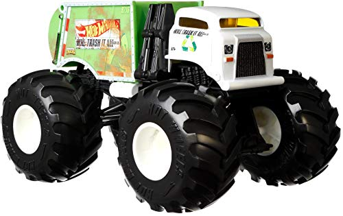 Hot Wheels Monster Trucks Will Trash It All die-cast 1:24 Scale Vehicle with Giant Wheels for Kids Age 3 to 8 Years Old Great Gift Toy Trucks Large Scales