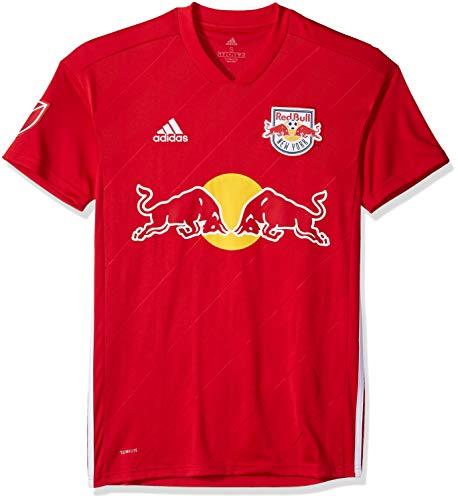 adidas MLS New York Red Bulls 7417ARD6AZNNRB Men's Replica Jersey, Medium, Blood Red
