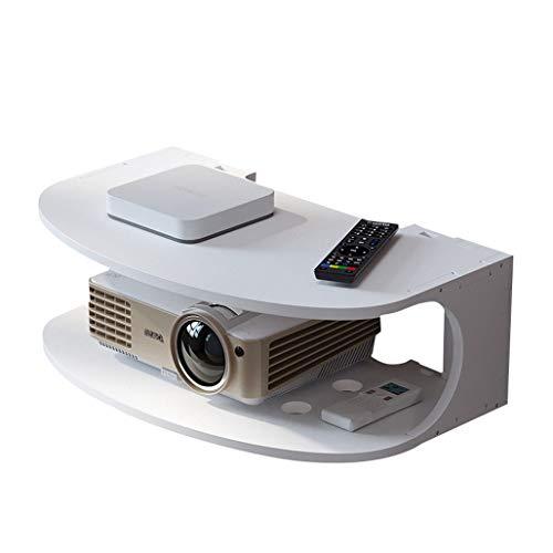 Lucky Star Consola de televisión de Estante Flotante de Montaje en Pared para componentes de TV, Caja de Ajuste, Reproductor de DVD Fácil Instalar Accesorios Soporte de enrutador