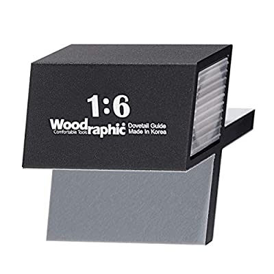 Woodraphic All New Dovetail Jig Marker Hand Magnetic Saw Guide Marking Hand Cut Wood Joints Gauge - Aluminium/Uhmwpe/Neodymium Magnet/Slicone Skin from Woodraphic