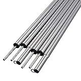 6 postes de soporte, accesorios para tienda de campaña, tubos de hierro ajustables, tubos de hierro de 40 cm de longitud, postes de soporte para tienda de campaña