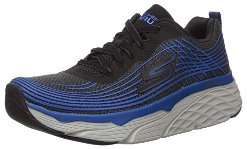 Skechers Men's Max Cushioning Elite-Performance Walking & Running Shoe Sneaker, Black/Blue, 10 D US