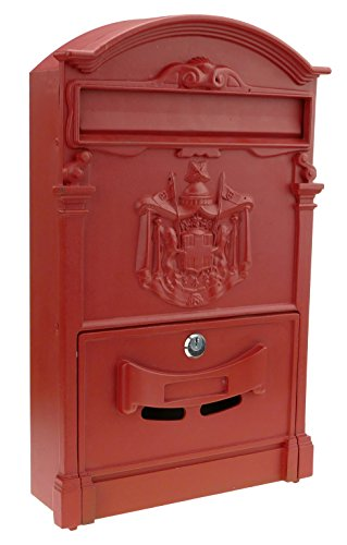 Cablematic BZ32-VCES brievenbus, antiek metaal, rood