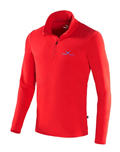 Black Crevice Herren Fleece-Funktionsrolli, Rot (Red - Red/Blue), L (Herstellergröße: 52)