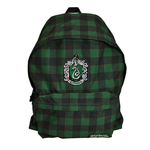 cotton division Harry Potter Rucksack Slytherin Wappen Karo Vichy-Muster 34x44x13cm grün schwarz