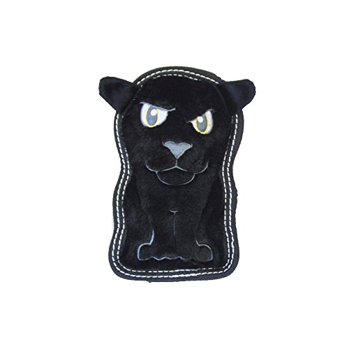 Invincibles Tough Seamz Stuffingless Durable Tough Plush Toy for Dogs, Tough Squeaky Dog Toy by Outward Hound, Small, Panther