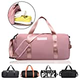 TOPSEFU Dry Wet Separated Sports Gym Bag with Shoes Compartment, Gym Duffle Holdall