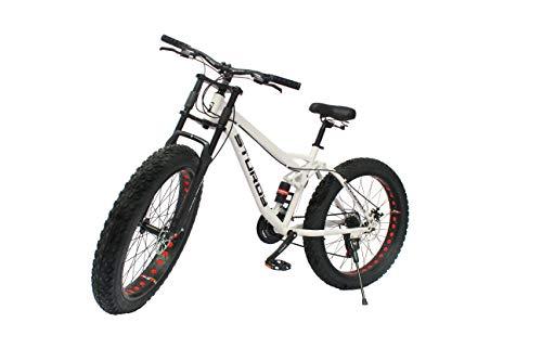 STURDY BIKES Dual Suspension Downhill Style Fat Bike - White