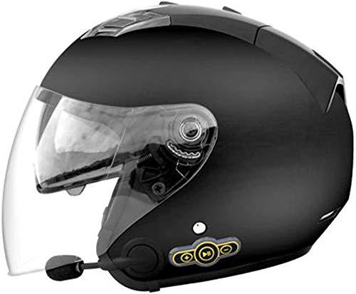 Casco Jet Para Motocicleta, Medio Casco Bluetooth Para Motocicleta Con Visera Doble, Casco Aprobado Por ECE / DOT22-05, Scooter Chopper, Monopatín, Ciclismo, Jóvenes, Hombres, Mujeres B,L