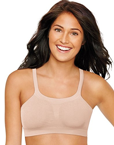 Hanes Women's Ultimate Bandini Multi-Way Wirefree, Soft Taupe, Large